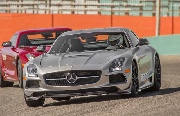 Track test the mercedes benz sls amg black series looks for Mercedes benz cool springs