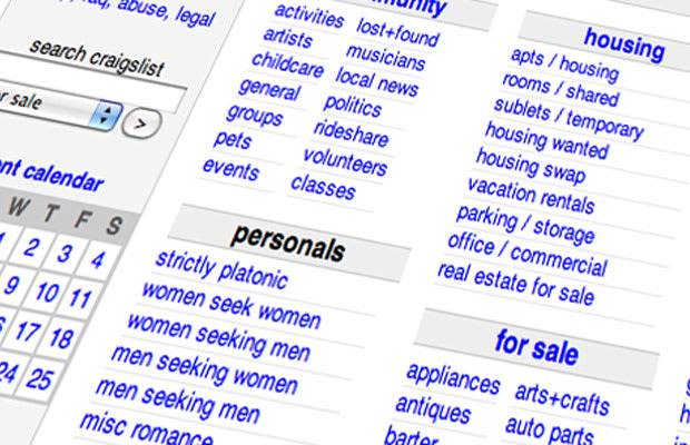 Rent 12 things you can get on craigslist if you 39 re just for Trading websites like craigslist