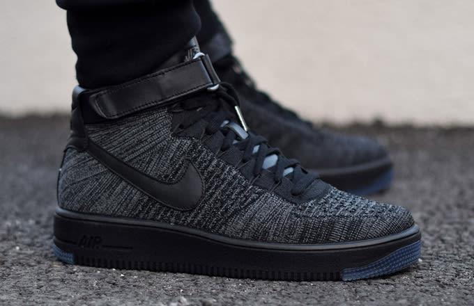 Nike air force 1 high black on feet