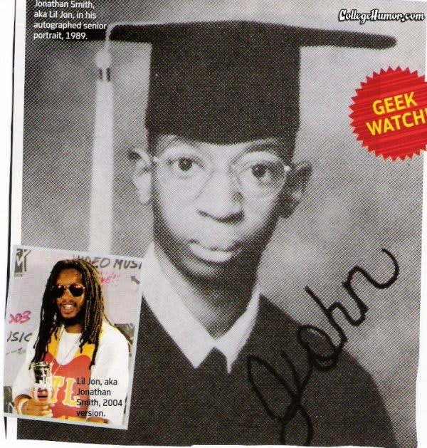 Lil Jon 25 Rapper Yearbook Pictures Complex