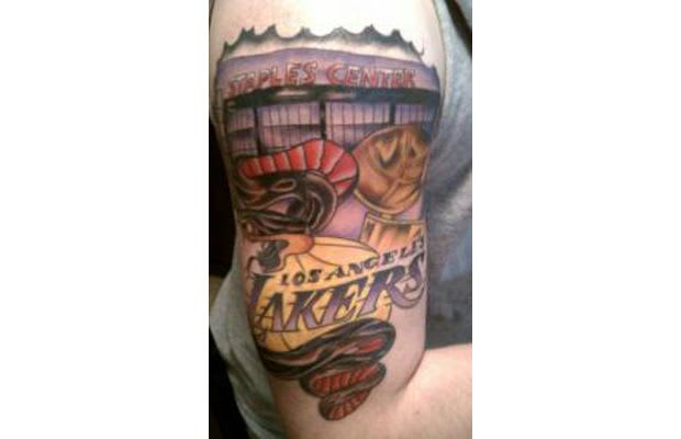 Los angeles lakers gallery the worst sports fan tattoo for La lakers tattoo