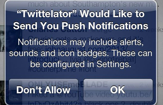 how to turn off push notifications on iphone 5