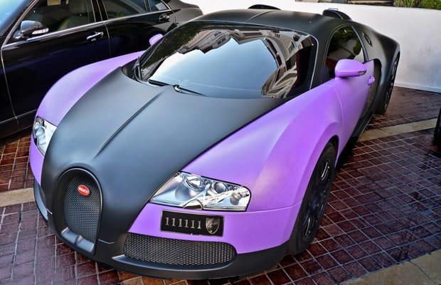 Bugatti Veyron - Rainbow Road: 50 Colorful Matte Cars   Complex