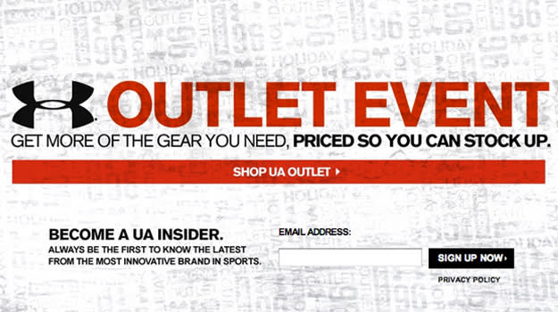 UA Outlet Event
