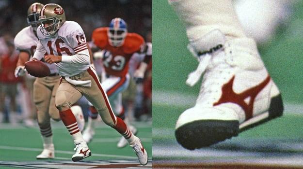 Joe Montana in Mizuno Turf-Ready Football Shoes