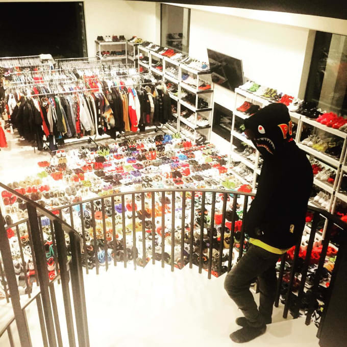 Chris Brown Needs Some Help Cleaning up His Sneaker Room f7cb08a86f