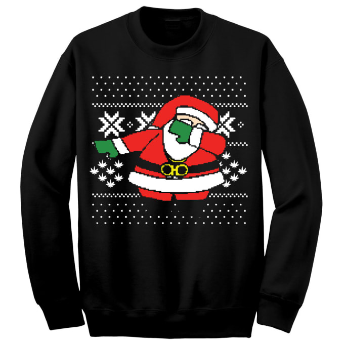 """450fdd36872 You Can Now Buy a 2 Chainz """"Dabbing Santa"""" Ugly Christmas Sweater ..."""