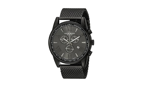 Akribos XXIV AK813BK Black Watch Mesh Band