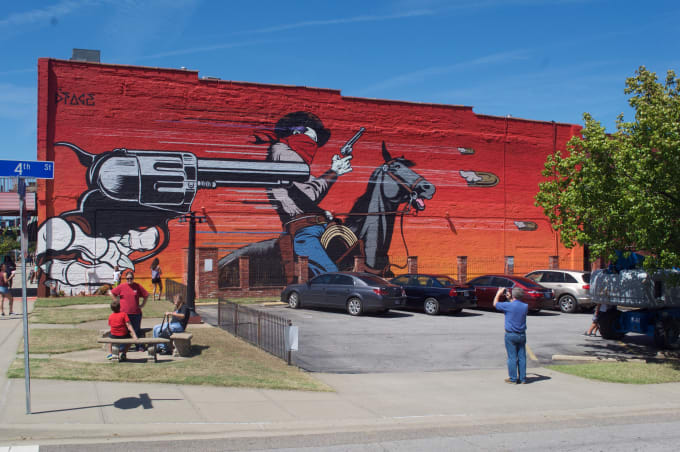 the unexpected street art festival hit fort smith arkansas and