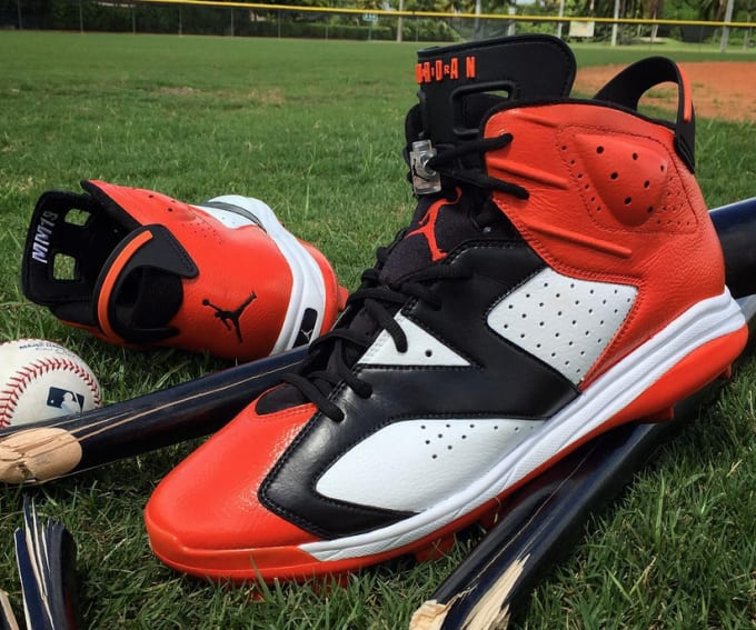 36a28fc7dc Baltimore Orioles third baseman Manny Machado s Jordan VI cleats. Image via  Nomad Customs. In Major League Baseball
