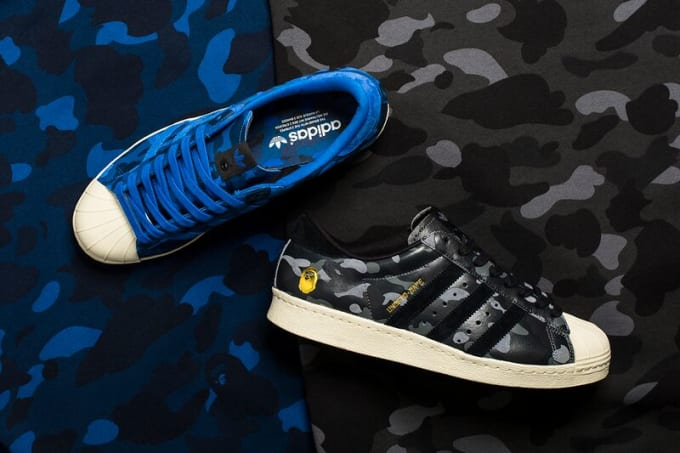 BAPE x Undefeated x adidas Superstar 80v