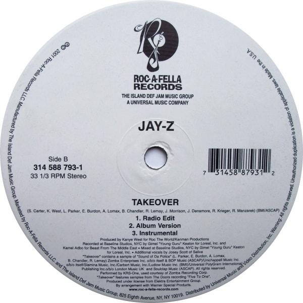 12 jay z encore 2003 kanye wests 50 best beats for other 2 jay z takeover 2001 malvernweather Choice Image