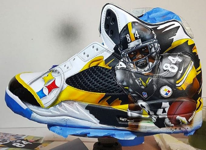 Snoop Doggs Custom Pittsburgh Steelers Air Jordan Vs
