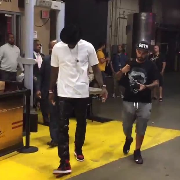 LeBron James Wears Air Jordan 1