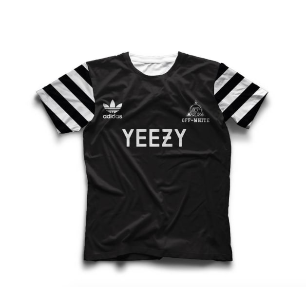 A Graphic Designer Reimagines Soccer Kits by Kanye West a186d86ad