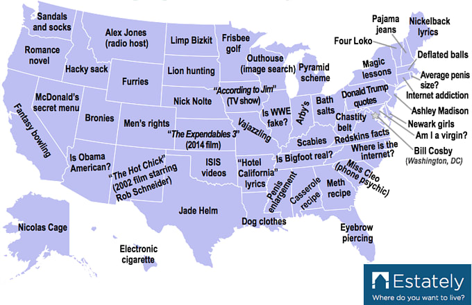 This Map Shows Each State\'s Sad Googling Habits | Complex