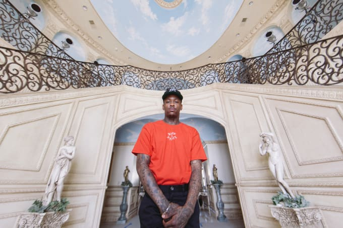 a92d1c6e8701 YG Models His New Collection With L.A. Streetwear Brand Born x ...