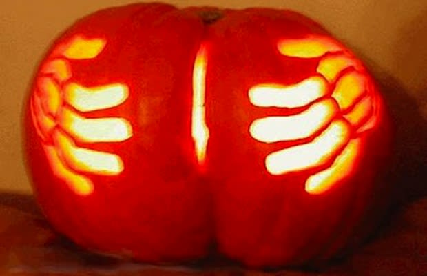 Nothing Like A Glowing Pumpkin Butt To Make You Want Eat So Many Milky Ways Puke On Yourself