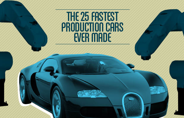 Gallery The 25 Fastest Production Cars  Complex
