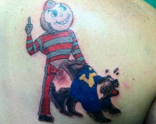 Though The Owner Of This Tattoo May Want Ohio State To Do University Michigan Its Obvious Why Is A Horrible Choice