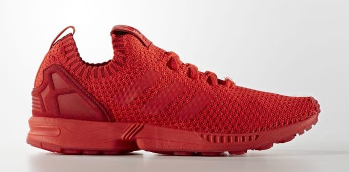 ... good adidas zx flux primeknit all red complex 1a1a0 a485b 6118e80ff