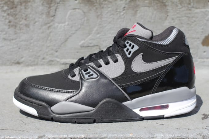 premium selection d3529 79c8e Fairly reminiscent of a certain Jordan drop, Nike Sportswear lets loose a  new colorway of the popular Air Flight  89. The predominantly black pair  features ...