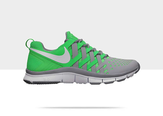 best loved 315a4 1a8f6 Green and grey hues come together on this new two-toned release of the Free  Trainer 5.0 from the Swoosh. The ever-popular silhouette continues to be in  high ...