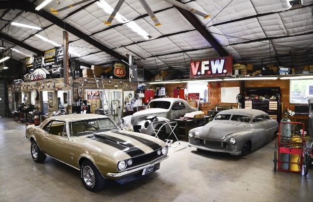 Inside austin speed shop america 39 s coolest custom car for Custom garage workshop