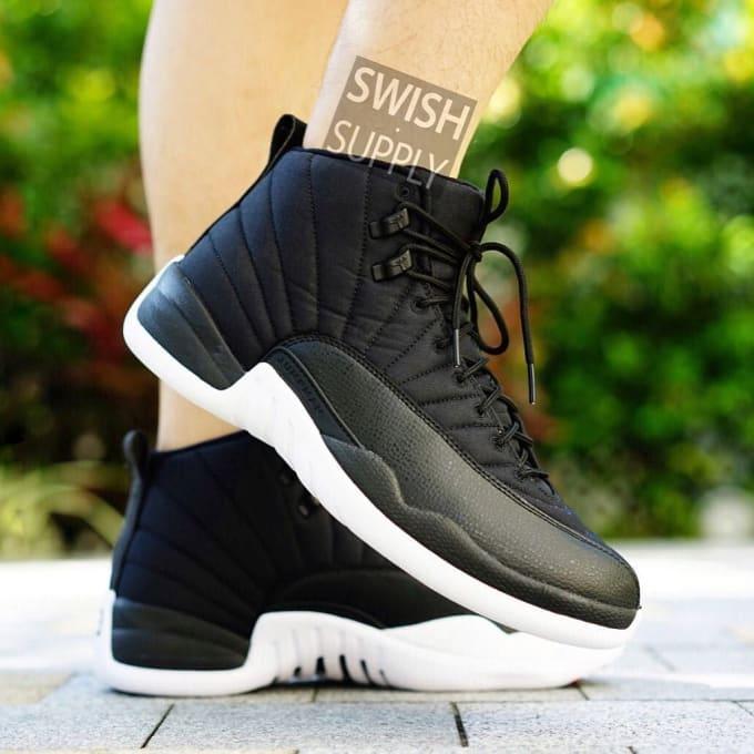 ddff21eec0ea56 Air Jordan XII 12 Black Nylon Waterproof Release Date