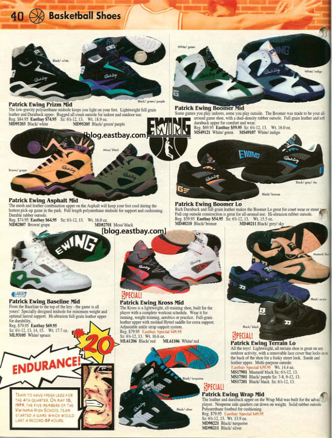 Ewing Athletics 25 Classic Sneakers From Vintage Eastbay