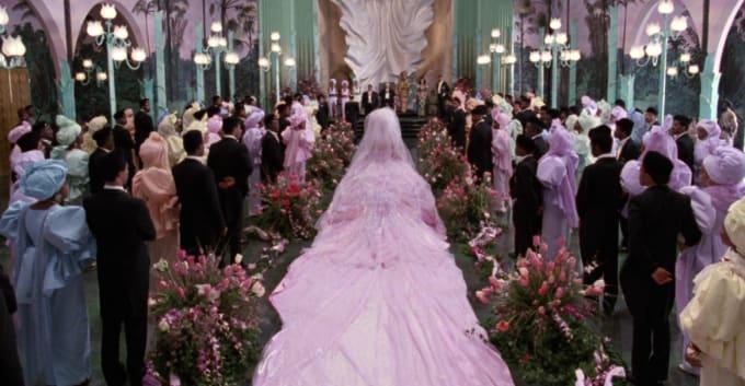 Lisa S Wedding Dress Train Coming To America Costume