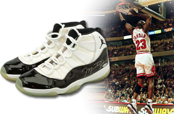 Michael Jordan Game Worn Concord Air Jordan 11 72-10 1996  4a6c92136