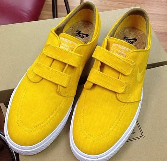 size 40 fee0e b2150 Nike SB is gearing up to deliver yet another Velcro edition of the Zoom  Stefan Janoski. The popular skate option here showcases can t-miss yellow  ripstop on ...