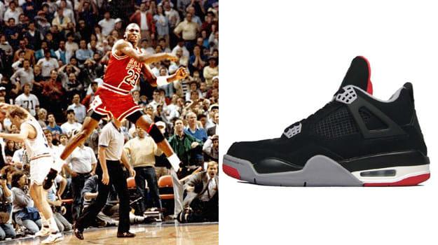 premium selection 389f5 bc3c4 Michael Jordan in the Air Jordan IV