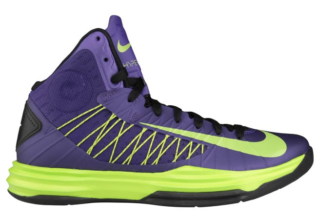 quality design ab086 c48f8 Joker, Incredible Hulk — whichever you wanna liken them to — the Swoosh has  now dropped off the Court Purple and Atomic Green option of its Lunar  Hyperdunk.