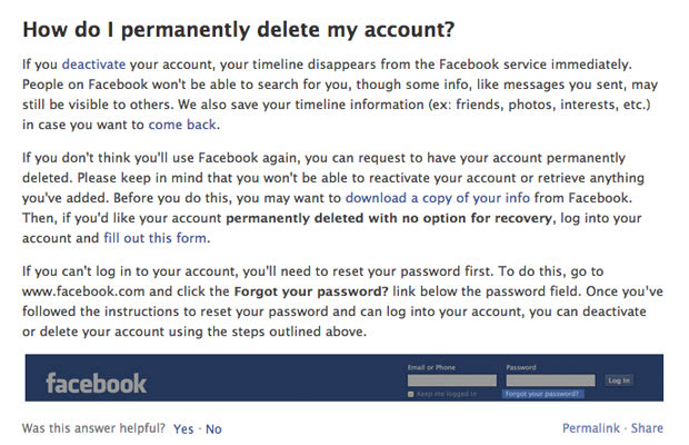 Deactivate your facebook account how to disappear from the deactivate your facebook account ccuart Images