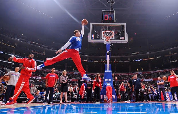 Before Last Nights Clippers Heat Game Photographer Noah Graham Captured Blake Griffin Throwing Down A Dunk But It Was No Ordinary