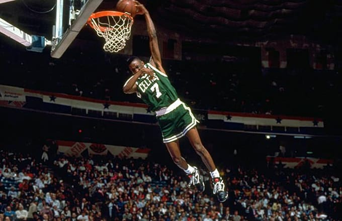 Image Via Sports Illusrated By The Time 1991 NBA Dunk Contest