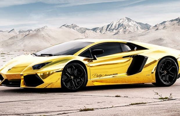 this crispy custom took miamis own prestige imports more than 70 days and 50000 to complete dubbed au79 the periodic table name for gold this car can - Lamborghini Aventador Gold And Black
