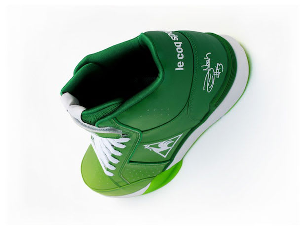 d99ad50b87f ... be the only Bull in green signature kicks on St. Paddy s Day -- center Joakim  Noah will be sporting these green fade Le Coq Sportif Pro Model 2.0s.
