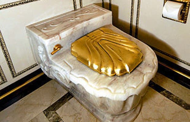 Russell Simmons  Gold Toilet The 20 Dumbest Rapper Purchases