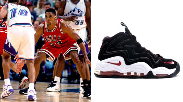 8ebb7397083d Today in Performance Sneaker History  Scottie Pippen Ties NBA Finals ...