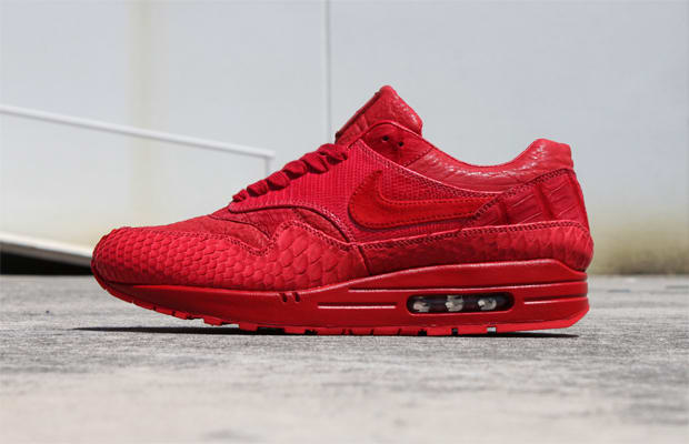 JBF Customs Went All-Red on a Pair of Air Max 1s  9f011e095