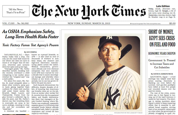 """Instagram Photo Graces """"The New York Times"""" Front Page"""