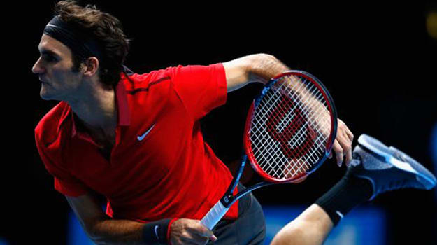 Roger Federer Brought Out The Black Cement For The Atp World Tour
