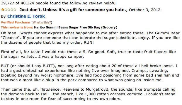 haribo gummi bears sugar  lb bag  hilarious product reviews   amazon complex