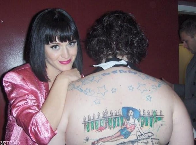 Katy perry celebrities with tattoos of themselves complex for Tattoo shops katy texas