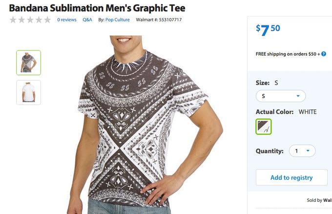 Where can a person get Wal-Mart logo shirts?
