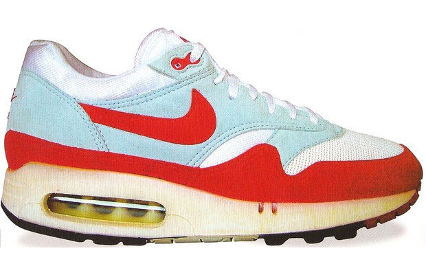 35014d3179c The first release of the Nike Air Max 1 featured a different midsole and  outsole than versions that remain popular today. Not only was the design  slightly ...