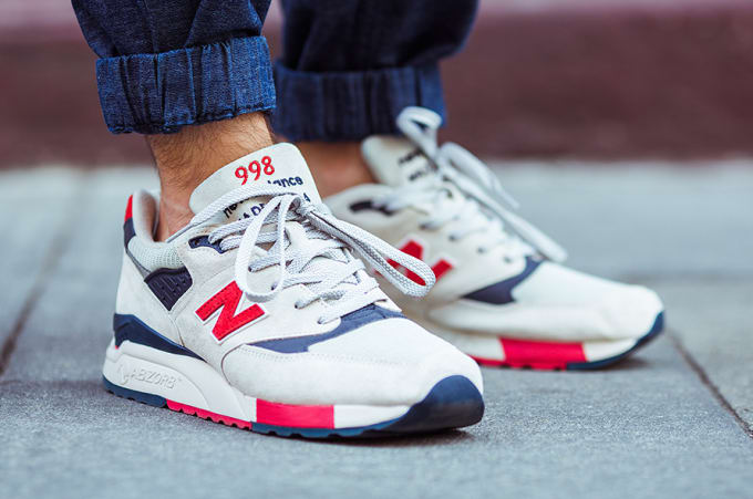 J. Crew x New Balance 998 Independence Day Trainers forecast